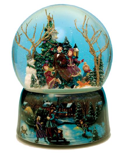 Palle di neve natalizie con carillon : palla di neve ...