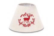 Cappello per abat-jour ricamo cervo